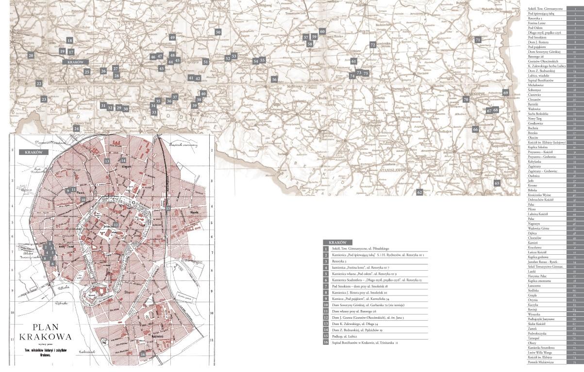 Mapa realizacji Teodora Talowskiego